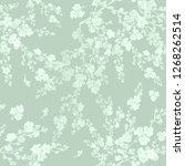 Seamless Pattern Of Flowering...