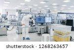 shot of sterile pharmaceutical... | Shutterstock . vector #1268263657