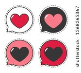 set of vector love icon sticker ... | Shutterstock .eps vector #1268265367