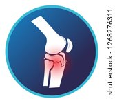fracture tibial plateau and... | Shutterstock .eps vector #1268276311