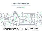 social media marketing   modern ... | Shutterstock .eps vector #1268295394