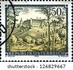 austria   circa 1990  a stamp... | Shutterstock . vector #126829667