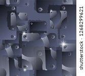 hand drawn seamless vector... | Shutterstock .eps vector #1268299621
