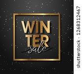premium luxury winter sale... | Shutterstock .eps vector #1268312467