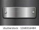 metal perforated background... | Shutterstock .eps vector #1268316484