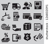 set of business and money icons ... | Shutterstock .eps vector #126832091