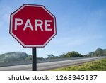 transit sign plate   red plate... | Shutterstock . vector #1268345137