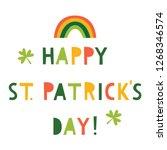 st. patrick s day vector... | Shutterstock .eps vector #1268346574
