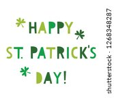 st. patrick s day vector... | Shutterstock .eps vector #1268348287
