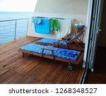 terrace in the hotel of... | Shutterstock . vector #1268348527