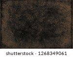 dark black grunge background | Shutterstock . vector #1268349061