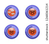 set of icons on the forum   Shutterstock .eps vector #1268361214