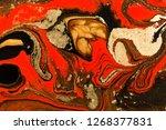 gold marbling texture design.... | Shutterstock . vector #1268377831