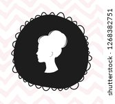woman head icon isolated in... | Shutterstock .eps vector #1268382751