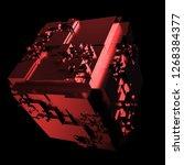 3d render complex abstract... | Shutterstock . vector #1268384377