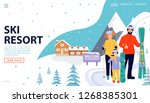 ski resort web page concept... | Shutterstock .eps vector #1268385301