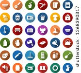 color back flat icon set  ... | Shutterstock .eps vector #1268390317