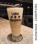 coffee   espresso macchiato is...   Shutterstock . vector #1268391481