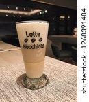 coffee   espresso macchiato is...   Shutterstock . vector #1268391484