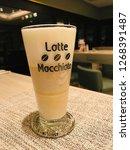 coffee   espresso macchiato is...   Shutterstock . vector #1268391487