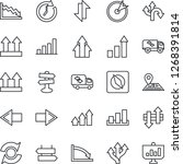 thin line icon set   signpost... | Shutterstock .eps vector #1268391814