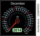 2014 year calendar speedometer... | Shutterstock . vector #126839501