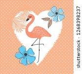 flamingo vector illustration ... | Shutterstock .eps vector #1268398237