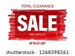 sale banner design. | Shutterstock .eps vector #1268398261