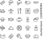 thin line icon set   spoon and... | Shutterstock .eps vector #1268398384