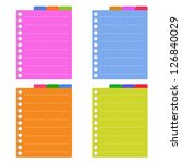 a sheet of blank lined on... | Shutterstock .eps vector #126840029