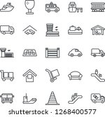 thin line icon set   taxi... | Shutterstock .eps vector #1268400577