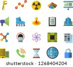 color flat icon set tool flat...   Shutterstock .eps vector #1268404204