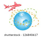 global transportation  airplane ... | Shutterstock .eps vector #126840617
