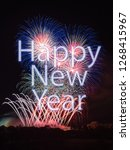 happy new year with colorful... | Shutterstock . vector #1268415967