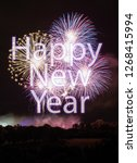 happy new year with colorful... | Shutterstock . vector #1268415994