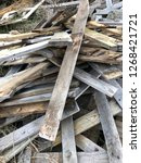 reclaimed salvage boards from... | Shutterstock . vector #1268421721