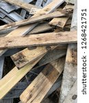 reclaimed salvage boards from... | Shutterstock . vector #1268421751