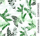 creative seamless pattern with... | Shutterstock . vector #1268443681