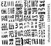 geometric art print. fashion...   Shutterstock .eps vector #1268445391