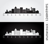 greensboro usa skyline and... | Shutterstock .eps vector #1268459491