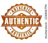 authentic vector stamp | Shutterstock .eps vector #126846794