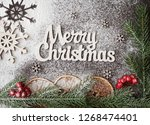 christmas background for...   Shutterstock . vector #1268474401