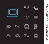 electronics icons set....