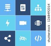 information technology icon set ...