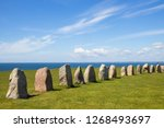 ales stenar   a megalithic... | Shutterstock . vector #1268493697