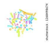 sprinkles grainy. sweet...   Shutterstock .eps vector #1268498674