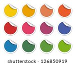 colorful stickers | Shutterstock . vector #126850919