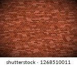 old brick wall background with... | Shutterstock .eps vector #1268510011
