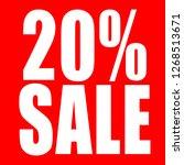 20 percent discount sign on... | Shutterstock . vector #1268513671