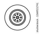 vector wheel icon  | Shutterstock .eps vector #1268521741